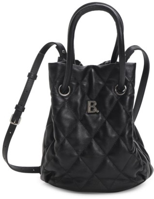 Balenciaga Small B Quilted Leather Bucket Bag