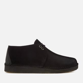 Clarks Men's Desert Trek Suede Shoes - Black