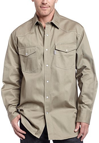 Carhartt Men's Ironwood Twill Work Shirt Snap Front Relaxed Fit S209