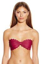 Agua Bendita Women's Dazzling Circus Tormenta Reversible Scalloped Bikini Top