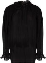 Magda Butrym oversized ruffle-trimmed silk blouse