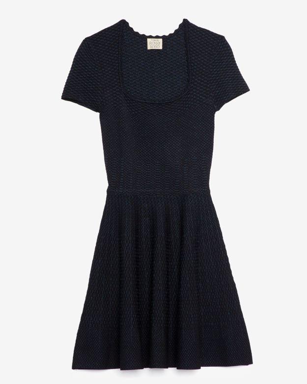 Torn By Ronny Kobo Shimmer Flare Dress