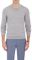 Barneys New York MEN'S LIGHTWEIGHT CREWNECK SWEATER-GREY SIZE XL