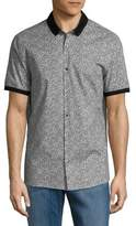Michael Kors Slim-Fit Printed Button-Down Shirt
