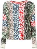 Sonia Rykiel animal pattern sweatshirt - women - Silk/Cashmere/Wool - S