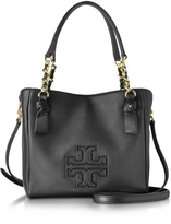 Tory Burch Harper Black Leather Small Satchel Bag