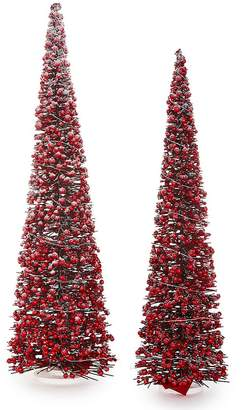 Ralph Lauren Trimsetter Cozy Christmas Christmas Collection LED Cranberry & Rattan Tree Holiday Decor