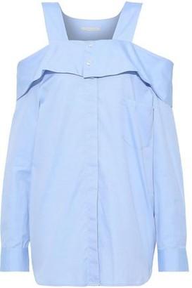 Jonathan Simkhai Oversized Cold-shoulder Cotton Oxford Shirt