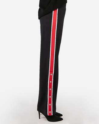 Express Side Stripe Snap Wide Leg Pant