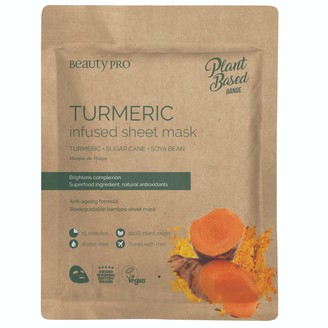 BeautyPRO Turmeric Infused Sheet Face Mask