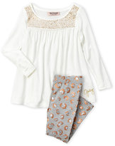Juicy Couture Toddler Girls) Two-Piece Studded Tunic & Leggings Set