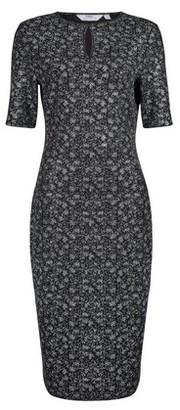 Dorothy Perkins Womens Tall Black Foil Keyhole Bodycon Dress, Black