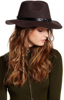 San Diego Hat Company Braided Leather & Wool Panama Hat