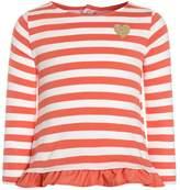 Carter's STRIPE BELL SLEEVE BABY Long sleeved top orange
