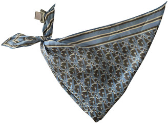 Christian Dior Anthracite Silk Scarves