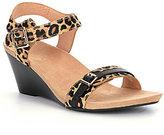 Vionic WALK.MOVE.LIVE Vionic® Noble Laurie Leopard-Print Wedge Sandals