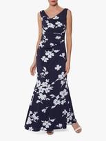 Gina Bacconi Naima Maxi Dress, Navy/Ivory