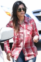 kourtney kardashian  Who made  Kourtney Kardashians red plaid shirt?
