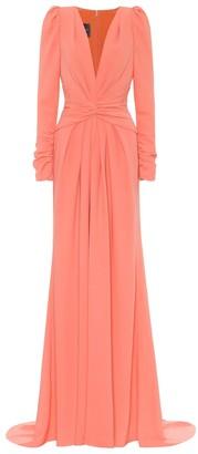 Monique Lhuillier CrApe gown