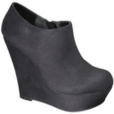 Mossimo Women's Kenna Wedge Ankle Boot - Black