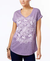 Style and Co Graphic-Print Cuffed-Sleeve T-Shirt, Created for Macy's