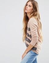 Maison Scotch Cashmere Mix Sweater With Lace