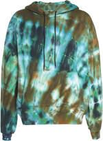 Amiri Tie-Dyed Loopback Cotton-Jersey Hooded Sweatshirt