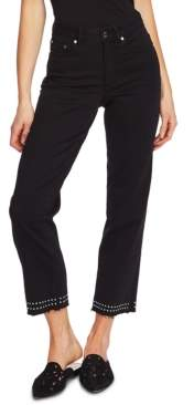 Vince Camuto Studded High-Rise Jeans