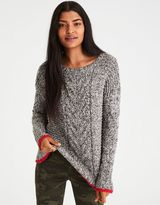 American Eagle Outfitters AE Tipped Chunky Cable Knit Sweater