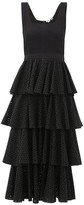 Rhode Resort Naomi Tiered Cotton Broderie-anglaise Dress - Womens - Black