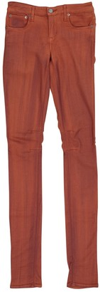 Helmut Lang Orange Cotton - elasthane Jeans