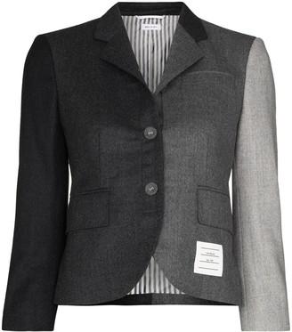 Thom Browne Panelled Cropped Blazer Jacket
