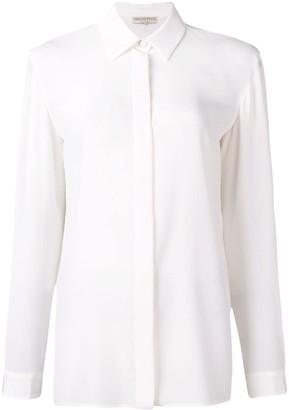 Emilio Pucci White Long Sleeved Silk Shirt