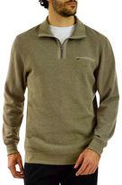 Haggar Quarter-Zip Flat Knit Sweater