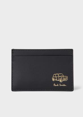 Paul Smith Men's Black Embossed 'Mini' Leather Card Holder