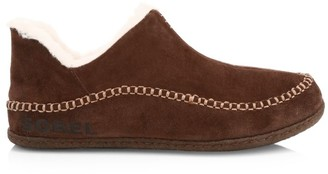 Sorel Manawan II Faux Fur-Lined Suede Slipper Shoes