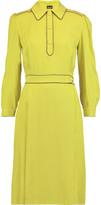Just Cavalli Pleated crepe dress