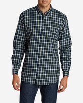 Eddie Bauer Men's Classic Signature Twill Long-Sleeve Shirt - Pattern