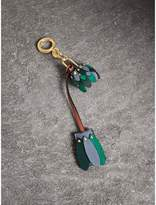 Burberry Beasts Leather Key Charm and Padlock