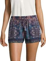 Equipment Lindee Constellation-Printed Silk Shorts
