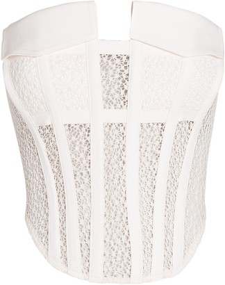 Dion Lee Strapless Lace Cargo Corset