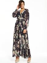 Very Floral Printed Wrap Maxi Dress