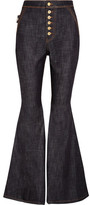 Ellery Ophelia High-rise Flared Jeans - Dark denim