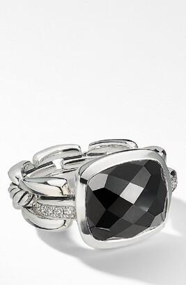 David Yurman Wellesley Link Statement Ring with Diamonds