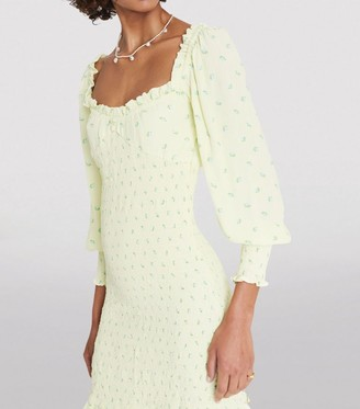 Faithfull The Brand Floral Gombardy Mini Dress