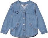 Stella McCartney Blue Denim Smoothie Heart Shirt