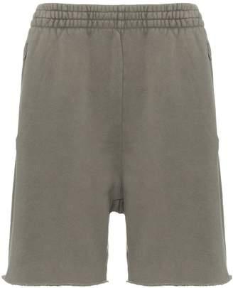 Yeezy elasticated waist cotton sweat shorts