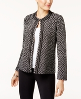 JM Collection Petite Diamond-Pattern Cardigan, Created for Macy's