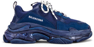 Balenciaga Triple S Sneakers in Navy | FWRD