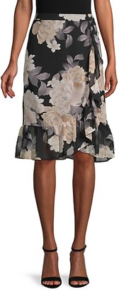 Calvin Klein Floral Flounce Skirt